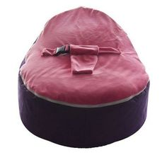 Purple Zipper Baby Bean Bag Soft Sleeping Portable Seat Without Filling