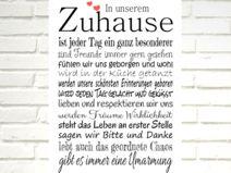 """Kunstdruck  """"In unserem ZUHAUSE"""""""