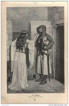 """Die Schatten   - Druck, entnommen   aus """"die Gartenlaube"""", 1909"""