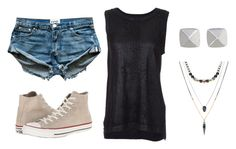 """Chilling"" by rqueen25 ❤ liked on Polyvore featuring Current/Elliott, Converse, ASOS and Vince Camuto"