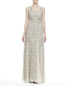 Kravit Fluted Lace Maxi Dress by Alice + Olivia at Neiman Marcus. $597