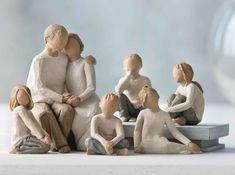 Family Groupings of Willow Tree hand-sculpted figures by Susan Lordi Create Your Family Grouping - P Willow Tree Family, Willow Tree Figures, Family Of 4, Diy Christmas Tree, Grandparents Day, Mother Day Gifts, Sculpting, Carving, Homeschooling