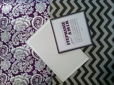 Potential options for fine paper to accent our invites