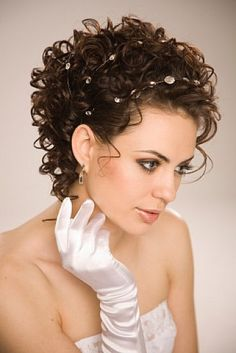 hairstyles for short curly hair for weddings - Google Search