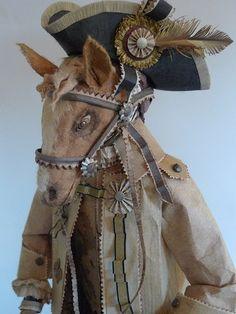 paper sculpture - horse