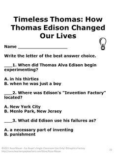 thomas edison essay topics