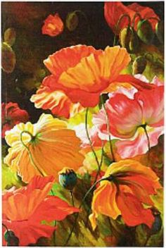 Inspired the Vibrant Poppies color palettes
