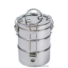 I love tiffin boxes and it's because I'm one of those people who doesn't really like it when their foods touch. It's a more fashionable cafeteria tray!