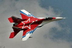 A Russian MIG-35 jet is shown at an air show in India. An official at the Chinese ministry of defence wrongly used a military version of this plane rather than a Chinese jet