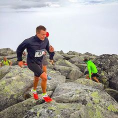 Welcome to RunnerLand  Photo: @trailrunnerforlife  Running above the clouds at BlamannVertical as a part of TromsoSkyrace