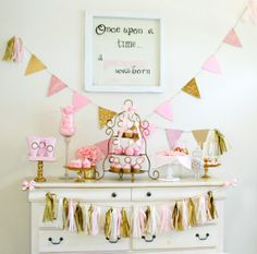 Once Upon a Time Birthday Party Set Gold by PrettyLittleWedding, $200.00