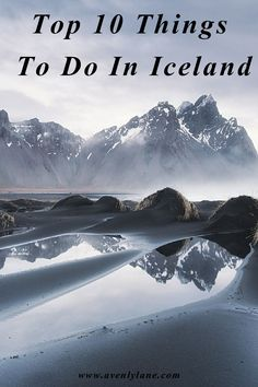 Top 10 Things To Do In Iceland!  Visiting the black sand beach in Vik, to seeing some of the most AMAZING waterfalls in the world! Read more on Avenlylane.com