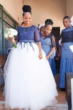 Shweshwe dresses is one among the African materials that are gaining momentum. Shweshwe dresses come in varied styles and might serve for each ancient and compa African Print Dresses, African Fashion Dresses, African Dress, Wedding Dress Pictures, Wedding Dresses For Girls, Bridesmaid Dresses, Wedding Images, Women's Dresses, African Traditional Wedding Dress