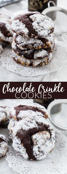 These thick and chewy Chocolate Crinkle Cookies are rolled in tons of powdered sugar and baked until crisp. They might be ugly, but they're way too good to share!