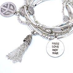 MAKE LOVE NOT WAR GOOD KARMA BRACELET