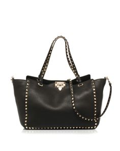 Leather shopping bag with small studs by #ValentinoGaravani