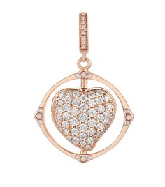 ANNOUSHKA MYTHOLOGY ROSE GOLD SPINNING HEART CHARM. #annoushka Locket Charms, Heart Locket, Annoushka, Heart Ornament, Diamond Studs, Harrods, Heart Charm, Spinning, Mythology