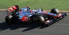 McLaren-Mercedes driver Jensen Button of Britain speeds to victory in Formula One's Australian Grand Prix in Melbourne on March 18, 2012.