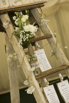 Rustic wedding step ladder table plan to hire in Home, Furniture & DIY, Wedding Supplies, Centerpieces & Table Decor | eBay