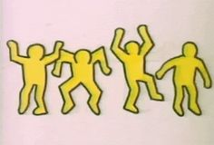 Discover & share this Keith Haring GIF with everyone you know. GIPHY is how you search, share, discover, and create GIFs. Keith Haring, Haring Art, Gif Dance, Paper People, World Leaders, Pics Art, Jojo's Bizarre Adventure, Art Market, Graffiti Art