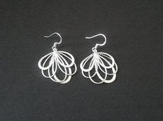 MOTHER'S DAY SALE  peacock feather silver earrings  by LaLaCrystal, $18.00
