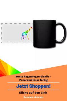 Kaufe dir jetzt diese Tasse für deinen Kaffee oder Tee. Lass dir diese und weitere Tier-Zeichnungen auf deine Accessoires drucken. Lasse dich inspirieren   Schau jetzt in unserem Shop vorbei! Klicke jetzt auf den Link! #Tasse #Accessoires #Stile #Spreadshirt #Giraffe #Rainbowanimals #Mode #Modeinspiration #Inspiration #Accessoireidee
