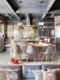 Bright industrial loft