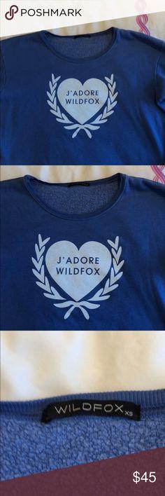 Wildfox size xs sweatshirt Blue Wildfox size xs sweatshirt Wildfox Couture Tops Sweatshirts & Hoodies
