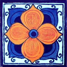 Marigold Talavera Mexican Tile