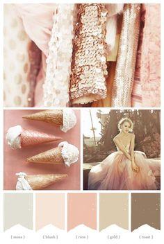 copper, moss, blush, rose, gold, toast... pinkflowerlove.com