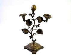 Antique Beautiful Decorative Brass Incense Sticks & Candle Stand. G7-582