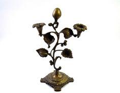 Antique Beautiful Decorative Brass Incense Sticks & Candle Stand. G7-582
