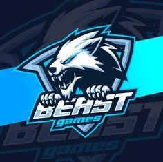 Esport logo Vectors, Photos and PSD files Beast Logo, Escudo Viking, Logo Esport, Beast Games, Team Logo Design, Esports Logo, Robot Concept Art, Dark Blue Background, How To Make Logo
