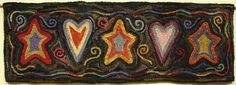 Rug Hooking Pattern Sweet Dreams J631 by DesignsInWool on Etsy, $30.00