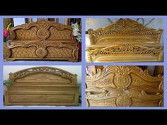 Super 👍 beautiful Wooden Bed Designs 👌👌👌 Traditional Wooden Bed Designs 👌👌👌 Wooden Bed Designs At Low cost! Bed Headboard Design, Wood Headboard, Headboards For Beds, Simple Wooden Bed Design, Simple Bed Designs, Box Bed Design, Carved Beds, Box Bedroom, Carving Designs