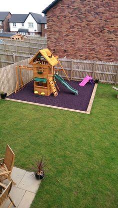 Kids Outdoor Play, Outdoor Play Areas, Backyard For Kids, Backyard Play Areas, Play Area Outside, Kids Play Area, Childrens Play Area Garden, Diy Playground, Outdoor Playground Flooring