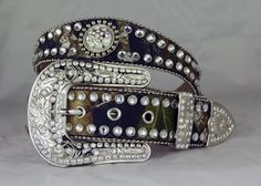 BESTSELLER! Camo Scallop Rhinestone Belt for Women $59.99 i would buy this if it didnt have so many fucking rhinestones on it'