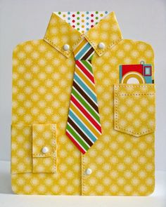 """Snippets By Mendi: A Doodlebug """"Day To Day"""" Father's Day Dress Shirt Card, Paper Crafts Card Creations Volume 12"""