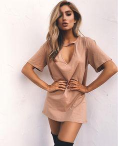 Plunge V Cut Short T-Shirt Dress!!!