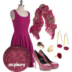 """Give 'em a Raspberry"" by bethherrmann on Polyvore"