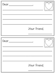 Letter writing paper friendly letter school stuff pinterest cute and free letter template for valentines day in kindergarten spiritdancerdesigns Image collections