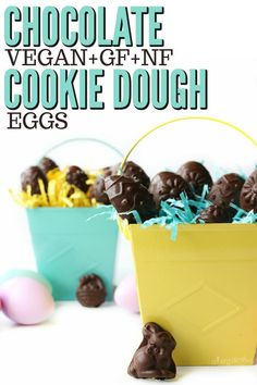Chocolate Chip Cookie Dough Easter Eggs (Vegan, Gluten-free, Nut-free)- Fill your Easter basket with these delicious, no-bake, allergy-friendly chocolate covered eggs. #vegan #glutenfree #nutfree #dairyfree #Easter #chocolate |Recipe at www.allergylicious.com| Baking Soda Clay, Baking Soda On Carpet, Baking Soda Uses, Vegan Cookie Dough, Chocolate Chip Cookie Dough, Eggless Cookie Recipes, Baking Recipes, Healthy Milk, Super Cookies
