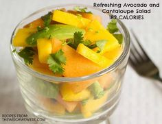 Great success story! Read before and after fitness transformation stories from women and men who hit weight loss goals and got THAT BODY with training and meal prep. Find inspiration, motivation, and workout tips | Refreshing Avocado and Cantaloupe Salad   82 Calories
