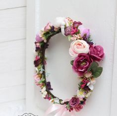 Bridal Floral Crown Flower haloWedding flower crown by ByKochetova f0e42a0e5423