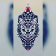 Amazing cat tattoo design in dotwork style. Style: Dotwork. Color: Blue. Tags: Cool, Best, Amazing
