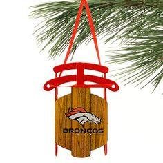 Denver Broncos Sled Ornament