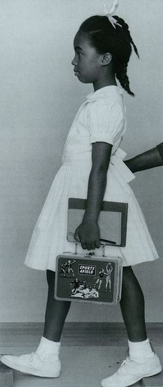 "Ruby Bridges For Real  Working Photograph of Ruby Bridges used by Norman Rockwell in his famous painting ""The Problem We All Live With."""