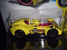 HOT WHEELS 2017  EXPERIMOTORS #7/10  TURBOT (YELLOW) #HotWheels