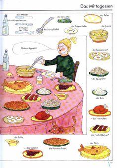 German vocabulary - Mittagessen / Lunch