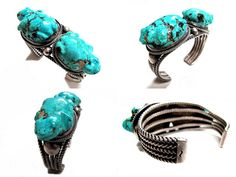 https://flic.kr/p/8qUpJ6 | Leekya Frogs on Fred Thompson silver | The two frogs are Leekya Deyuse, Zuni artist, carvings and have been set on a Fred Thompson, Navajo artist, four wire bracelet.